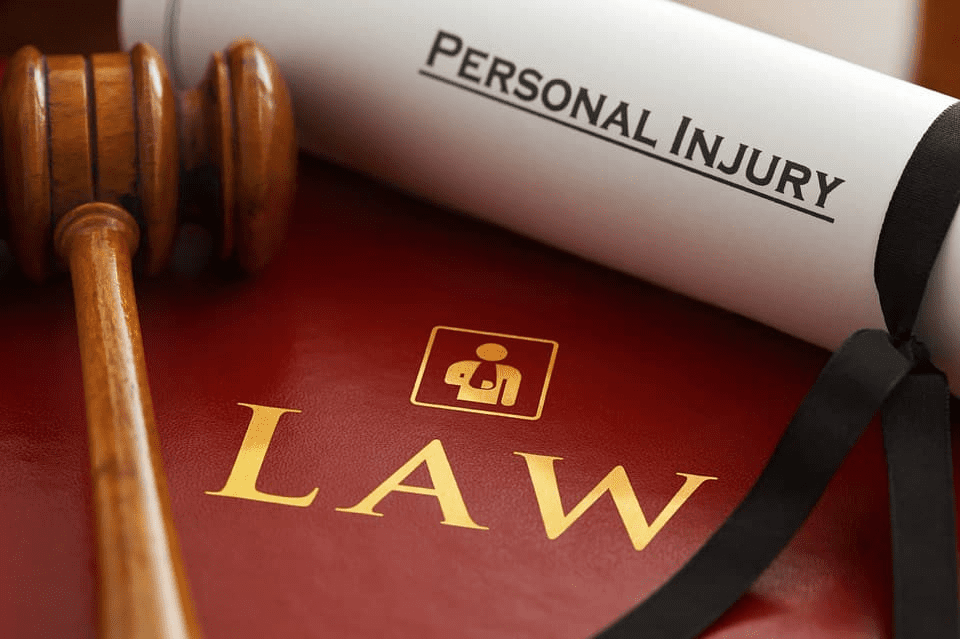 Personal Injury Law booklet and gavel